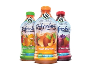 Fruit and vegetable juices are popular choices for antioxidant intake. These particular bottles of V8 also advertise no high fructose corn syrup. See my previous blog to find out why HFCS isn't so bad.
